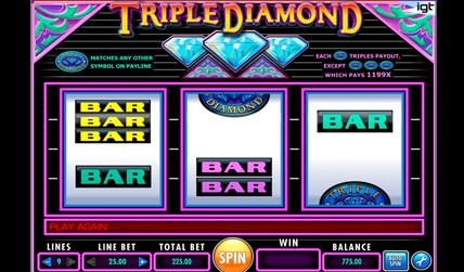 Triple Diamond Slot screenshot 3