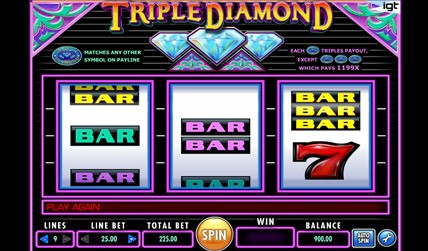 Triple Diamond Slot screenshot 1